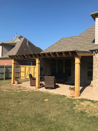 newly installed covered patios
